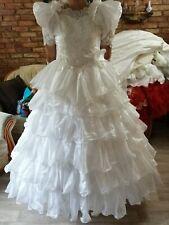 ein Brautkleid/Kostüm in weiß Gr 46/48/50/52   mit Zubehör ohne Inhalt