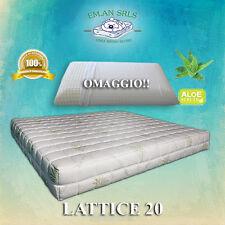 Materasso lattice piazza e mezza 120x190 Aloe Vera + 1 guanciale in OMAGGIO