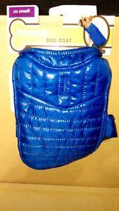 Fletchwear XXSmall Blue  Dog Coat with hook and loops