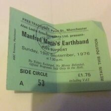 MANFRED MANN'S  EARTHBAND TICKET FREE TRADE HALL 19th SEPT 1976 ORIGINAL.