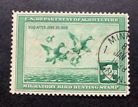 WTDstamps - #RW4 1937 - US Federal Duck Stamp **MINNEAPOLIS, MN** NG - Cancel