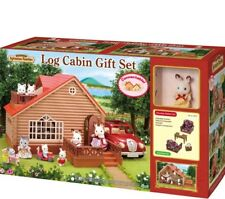 Sylvanian Families Log Cabin Gift Set/ Included Chocolate Rabbit Girl