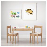 IKEA Lätt Kindertisch mit 2 Stühlen Kinder Stuhl Tisch Set Kindermöbel  NEU
