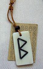 Runen Halskette 11111 mit Leder Rundriemen Germanen Kelten Nordmannen Nordisch