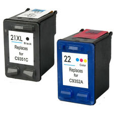 2pk for HP 21 22 XL Deskjet F4180 F2210 D1560 3930 Officejet 4315 J3640 FAX 3180