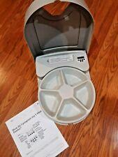 PETSAFE AUTOMATIC PET FEEDER PROGRAM TIMER 5 MEAL DOG/CAT Food Bowl Dispenser