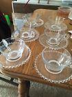6 Candlewick Tea Cups And Saucers