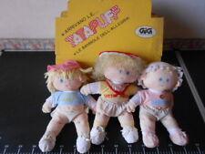 ☆˚。3 Tatapuff Bambole Allegria My GiG DOLL Child VINTAGE Italy  。˚☆