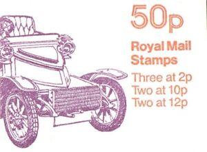 GB QE 1980 Folded 50p Booklet, Veteran Cars No.3 - FB12A