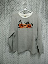 Halloween Top Size XXL 20 Pull Over TRICK OR TREAT Pumpkins Long Sleeve Casual