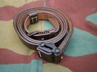 Cinghia trasporto Mauser kar 98k STGw 44, German WW2 leather brown strap sling