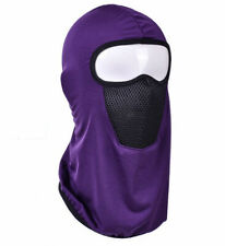 Thin Summer Outdoor Balaclava Full Face Mask Zipper Motorcycle Cycling