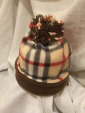Brown Burberry Extra Warm Fleece Winter Hat*Cap*Beanie*Double Layered*Med/Lge*