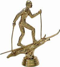 12 Ski Langlauf Figuren 3D mit Marmor #2 (Pokale Wintersport Medaillen Skikurs)