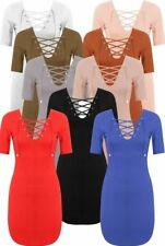 Regular Size Solid Polyester Tunic Dresses for Women