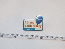 Paypal pin 10 year Anniversary 2008 PP RARE collectible Ebay live convention