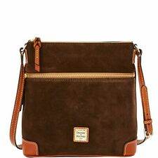 Dooney & Bourke Tmoro Brown Suede Leather Crossbody Handbag