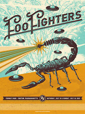 Foo Fighters Poster 7/18-19/15 Fenway Park Boston MA Signed & Numbered #/55 A/E