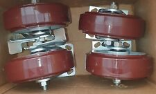 SET 4 NEW R.T Laird Inc  Vari-Flex Shock Absorbing  Swivel Caster Wheel