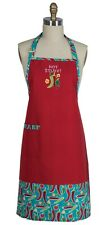 Hot Stuff Chili Peppers Embroidered Chef Apron Kitchen Cotton Kay Dee Designs