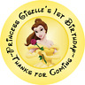 BEAUTY AND THE BEAST BELLE BIRTHDAY ROUND PARTY STICKERS FAVORS LABELS CUSTOM
