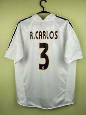 Roberto Carlos real madrid jersey medium 2004/2005 Home shirt adidas