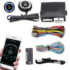 Remote Car Push Button Engine Start Stop Locking Kit Phone App Control Universal