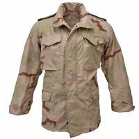 M65 Jacket Original US Combat Field Tri Desert Camo Coat Army Surplus Military