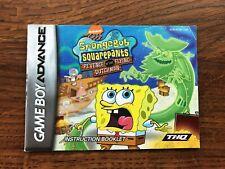 Spongebob Squarepants Revenge of the Flying Dutchman Gameboy Advance Manual Only