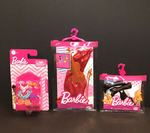 Mattel~Barbie Dress w/ Violin Outfit + Shoes and Headwear Accessories~19 Pieces!