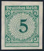 DR 1923, MiNr. 339 a U, ungezähnt, postfrisch, Kurzbefund Schlegel, Mi. 350,-