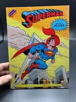 Vintage 1984 Craft Master Super Powers Batman And SuperMan 15pc Puzzles Lot Of 2