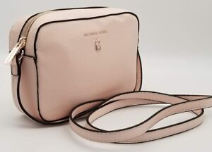 Michael Kors Crossbody Bag Blush Faux Leather Purse Pouch Gorgeous BNWT