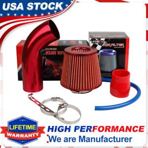 """3"""" Cold Air Intake Filter Clamp Induction Kit Power Flow Hose System Accessories"""