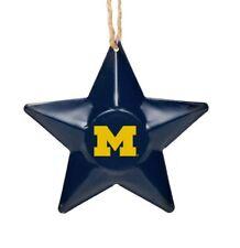 Michigan Wolverines Christmas Tree Holiday Ornament New Team Logo Metal 3D Star