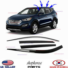 NEW SMOKED DOOR VISOR WINDOW VENT DEFLECTOR fits HYUNDAI SANTA FE SPORT 13-2018