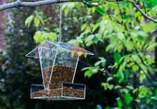 HOPPER BIRD FEEDER Sky Cafe Heavy Duty Hanging Pole Mounted Clear Squirrel Proof