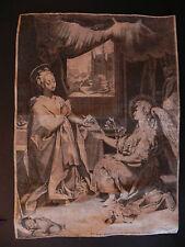 Annunciazione Barocci Urbino Gysbert van Veen bulino originale 1590