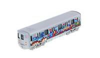"MTA New York City Metro Subway 7"" with Chico Graffiti Diecast Model 1:100 Scale"
