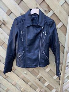 Warehouse Faux Biker Jacket Uk 12
