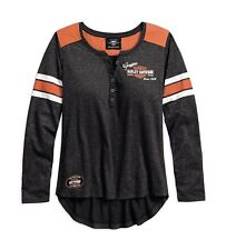 HARLEY-Davidson Genuine oil can Henley Maglietta Tg S-LADY-donna sexi