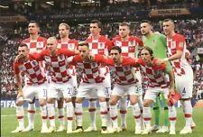 Kroatien Nationalmannschaft Weltmeisterschaft Finale 2018 Fussball etc Postkarte