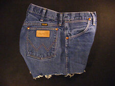 Wrangler Vintage CUTOFF JEAN SHORTS Cut Off High Waisted W 31 MEASURED Hot Pants