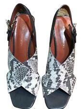 Rebecca Minkoff Womens Sz 10M Grey Python Embossed Heels