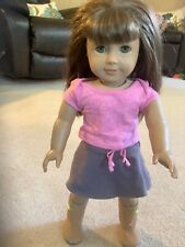 """American Girl doll 18""""  with Brown Hair & Green eyes VG and outfit"""