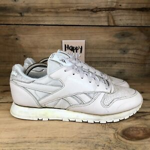 Reebok Classic Leather FBT Women's Nude Pink Lace Up Trainers Shoes Size UK7
