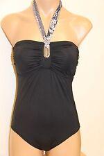 63bca5622f5 New Michael Kors Swimsuit 1piece Sz 8 Black Bandeau Maillot