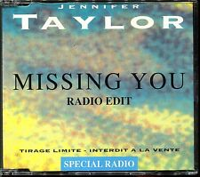 JENNIFER TAYLOR - MISSING YOU (RADIO EDIT PROMO) - FRENCH PROMO CD MAXI [141]