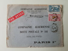 Morocco 1931, cover airmail to Paris, Cancel Marrakech