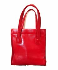 Vintage 60s Red Faux Leather (Vinyl) Tote Bag - Excellent condition